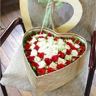 장미하트꽃상자(100송이)
